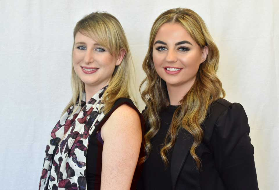 Natasha and Chloé from Paul Crowley & Co's Private client department